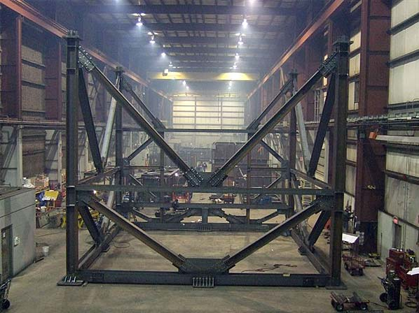 Trial Fit of an Oil SCR Support Structure inside our Ancaster, Ontario Location