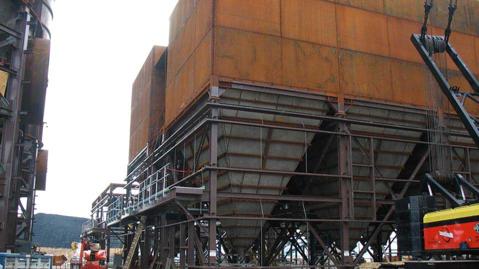 Fabrication for a coal power plant.